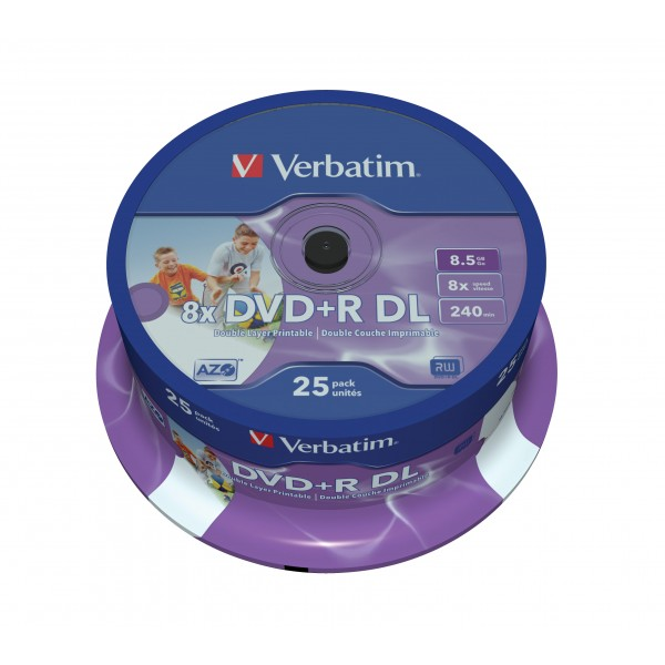 VERBATIM - 8.5GB DVD+R (8X) - DOUBLE LAYER PRINTAB...