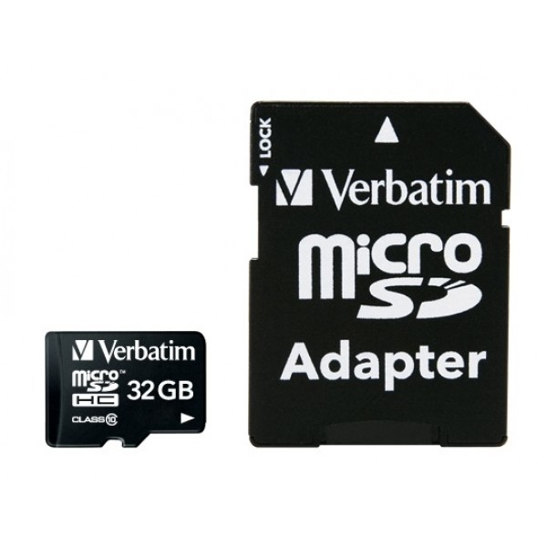 VERBATIM - 32GB MICRO SDHC PLUS ADAPTOR