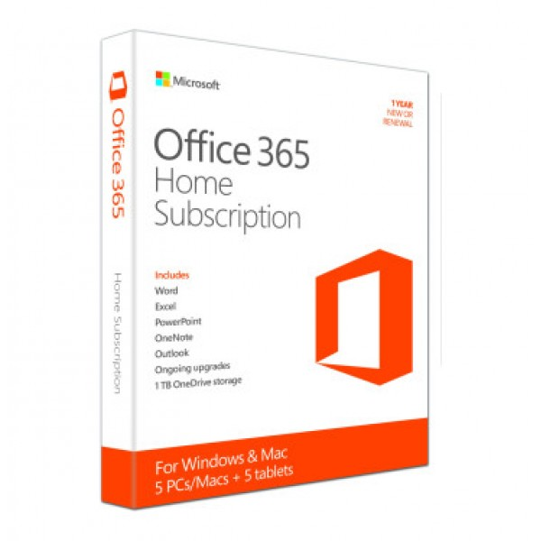 Office 365 Home (Medialess. 1 Year Subscription) -...