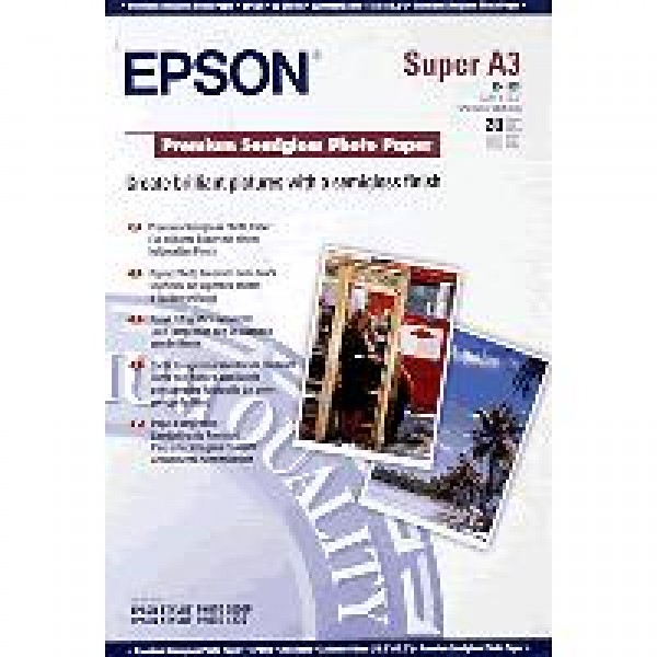 EPSON - PREMI SEMIGLOSS PHOTO PAPER A3+[S041328]