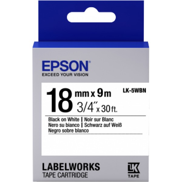 EPSON - LABEL CARTRIDGE - STANDARD LC-5WBN9 BLACK/...