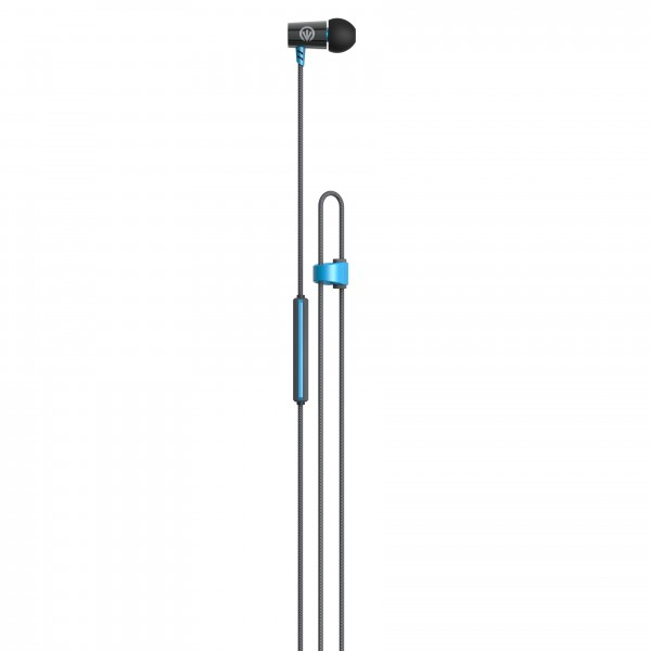 IFROGZ LUXE AIR-EARBUDS WITH MIC - BLUE