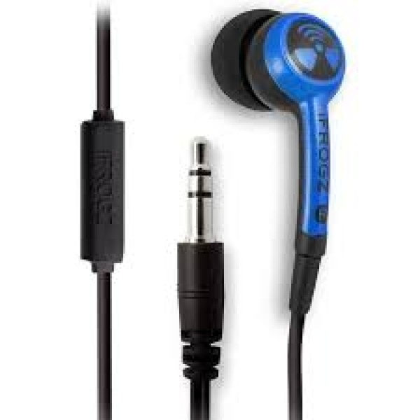 IFROGZ PLUGZ WITH MIC - BLUE