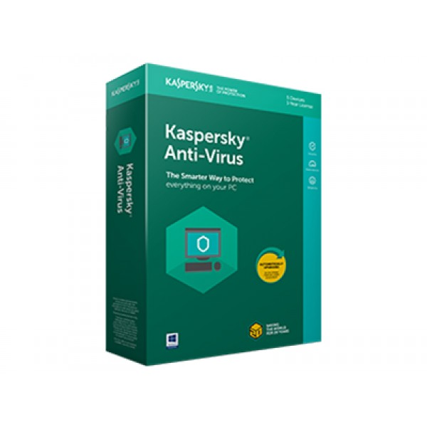 Kaspersky Anti-Virus 2018 4 User 1 Year DVD ENG ( 3 Licenses + 1 Licenses Free)