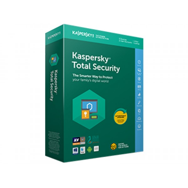 Kaspersky Total Security 2018 4 User 1 Year DVD ENG