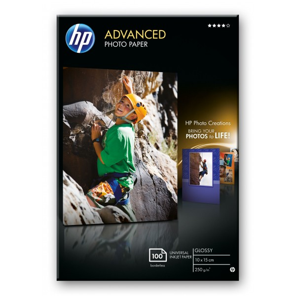 HP ADVANCED GLOSSY PHOTO PAPER 250 G/M-10 X 15 CM ...
