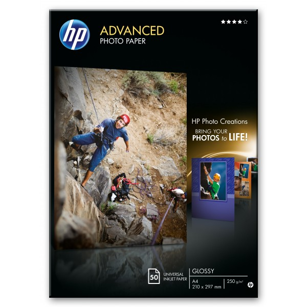 HP ADVANCED GLOSSY PHOTO PAPER 250 G/M -50 SHT/A4/...