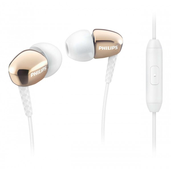 PHILIPS SHE3905 IN-EAR HP W/MIC- GOLD
