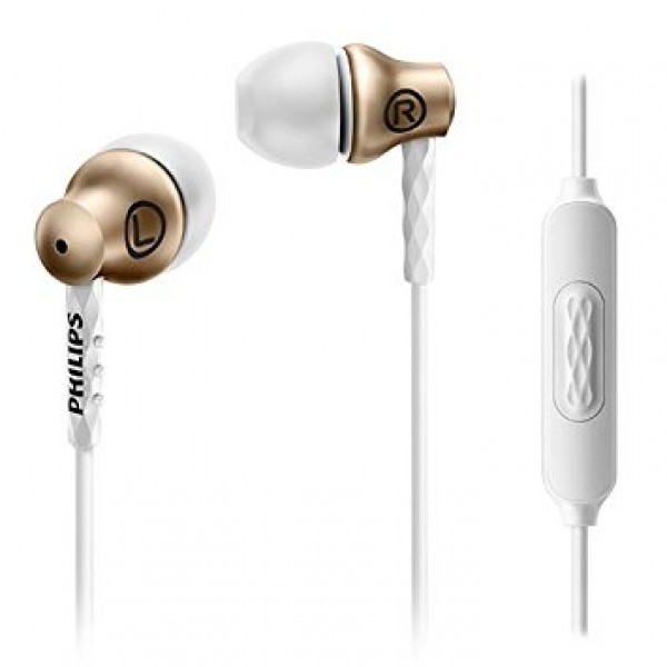 PHILIPS SHE8105 IN-EAR HP W/MIC - GOLD EOL