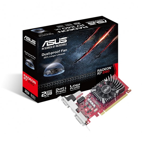 ASUS R7240-2GD5-L. Graphics processor family: AMD,...