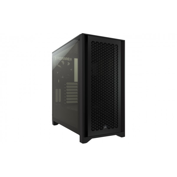 4000D Airflow Tempered Glass Mid-Tower; Black
