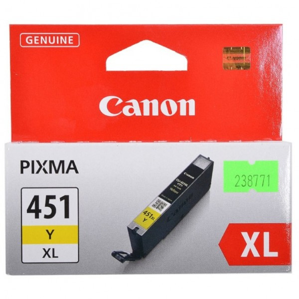 Canon CLI-451Y. Colour toner page yield: 685 pages...