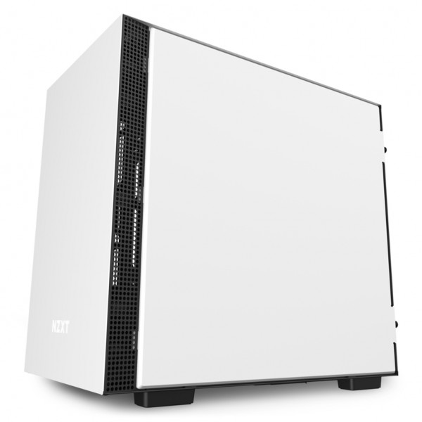 H210i White/Black Mini-ITX Case with Lighting and ...