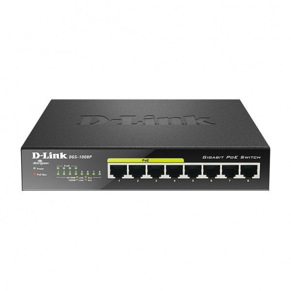 D-Link DGS-1008P. Switch type: Unmanaged. Basic sw...