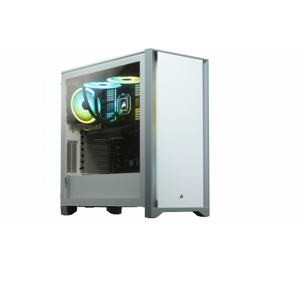 4000D Tempered Glass Mid-Tower; White