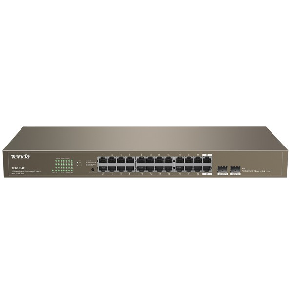 Tenda 24 Port Gigabit Unmanaged Switch 2xSFP | TEG...