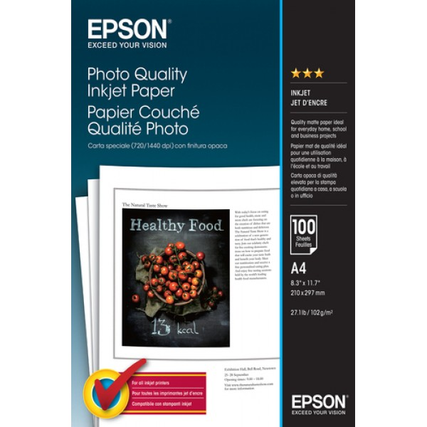 EPSON - MEDIA - (A4) - (100 SHEETS) - PHOTO QUALIT...