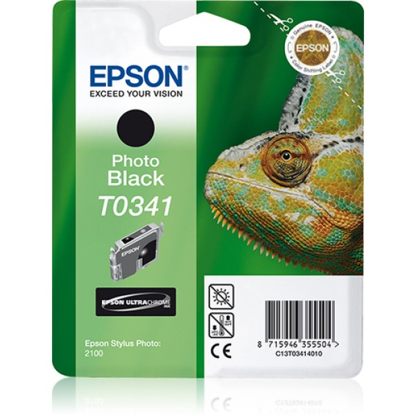 EPSON - INK - T0341 - PHOTO BLACK - CAMELEON - STY...