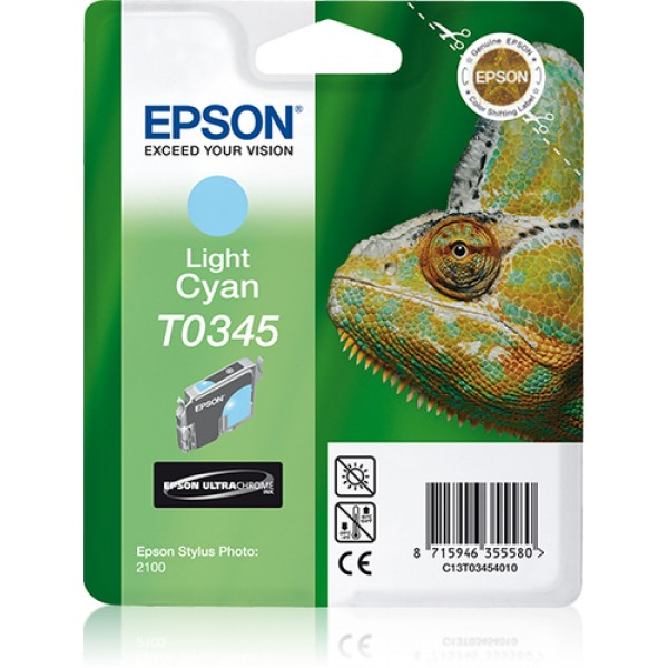 EPSON - INK - T0345 - LIGHT CYAN - CAMELEON - STYL...