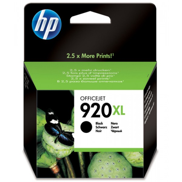 HP # 920XL BLACK OFFICEJET INK CARTRIDGE BLISTER P...