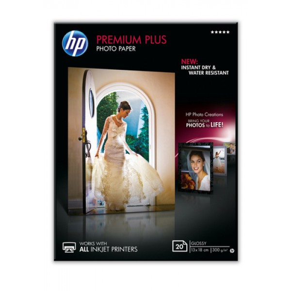 HP PREMIUM PLUS GLOSSY PHOTO PAPER 300 G/M-20 SHT/...