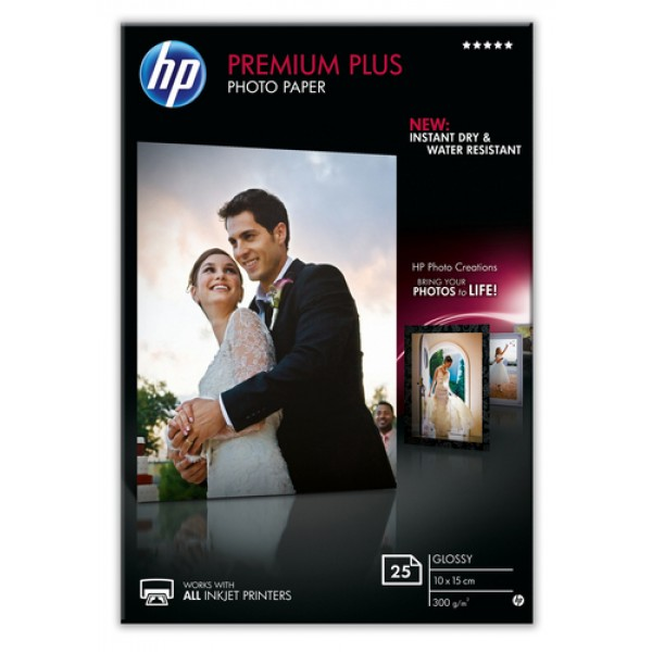 HP PREMIUM PLUS GLOSSY PHOTO PAPER 300 G/M-25 SHT/...