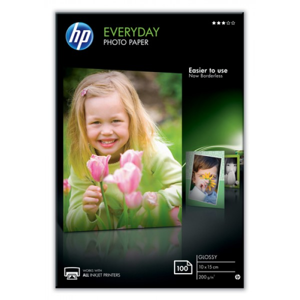 HP EVERYDAY GLOSSY PHOTO PAPER-100 SHT/10 X 15 CM ...