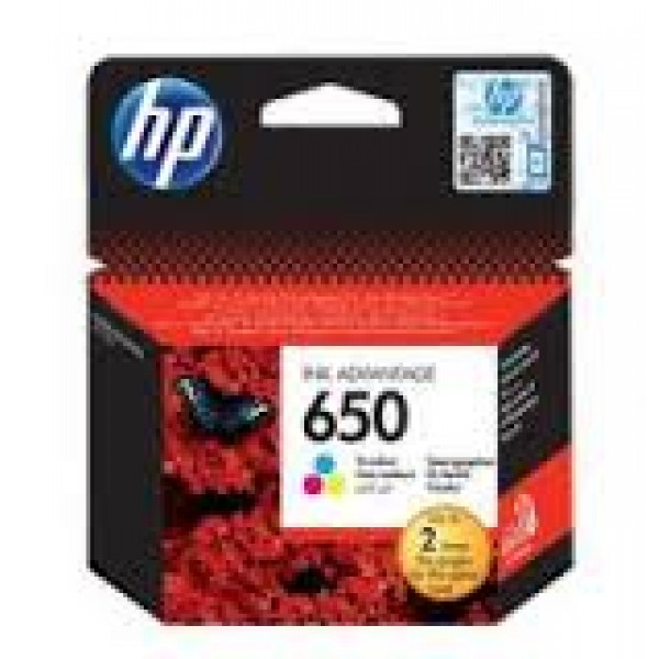 HP # 650 TRI-COLOR INK CARTRIDGE - NEW