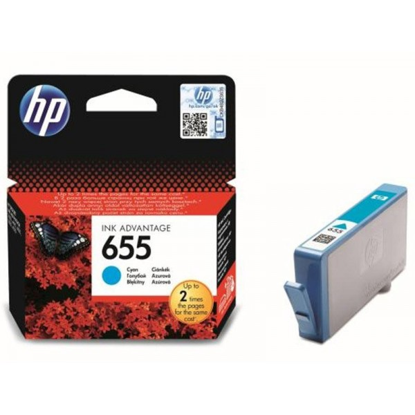 HP # 655 CYAN INK CARTRIDGE BLISTER PACK - NEW