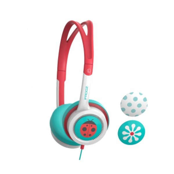 ZAGG LITTLE ROCKERZ HEADPHONES - TEAL AND CORAL FL...