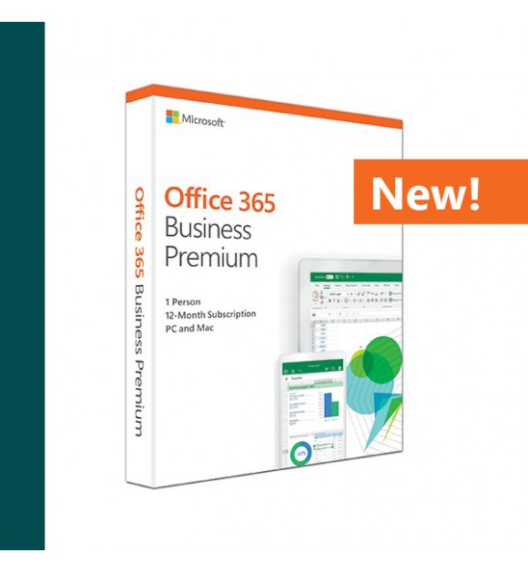 Office 365 Business Premium (Medialess. 1 Year Sub...
