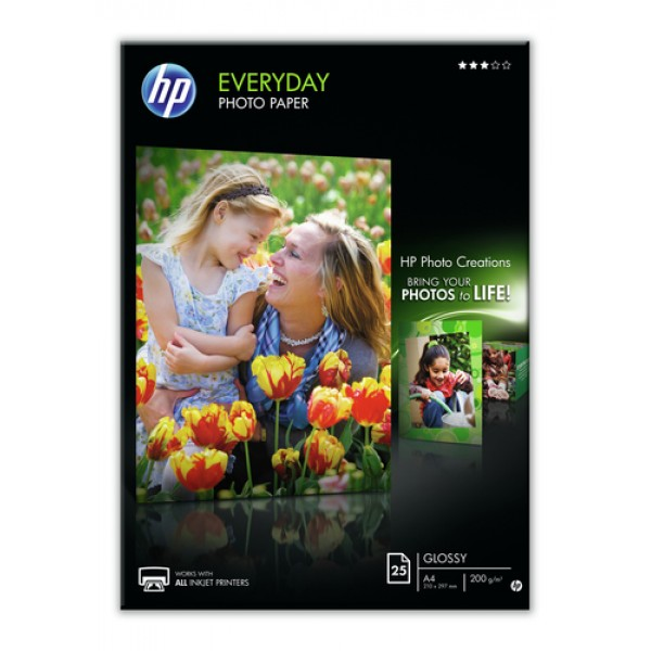 HP EVERYDAY GLOSSY PHOTO PAPER 200 G/M -25 SHT/A4/...