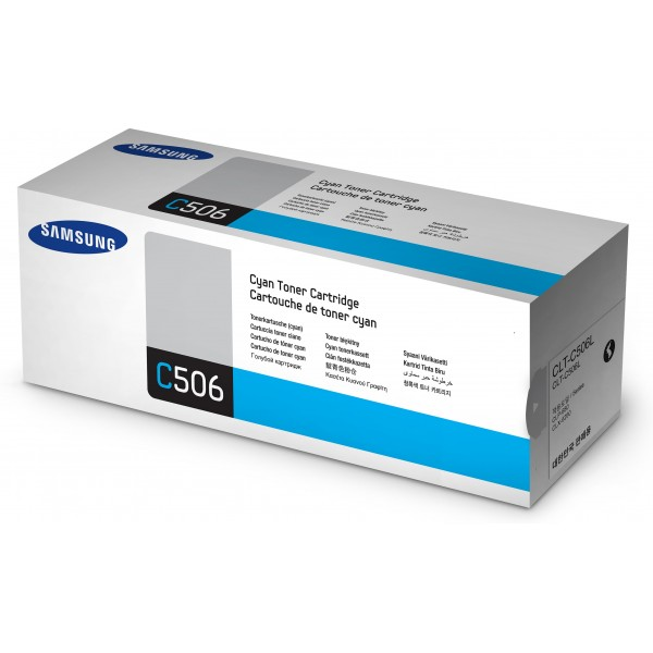 Samsung CLT-C506L High Yield Cyan Toner Cartridge