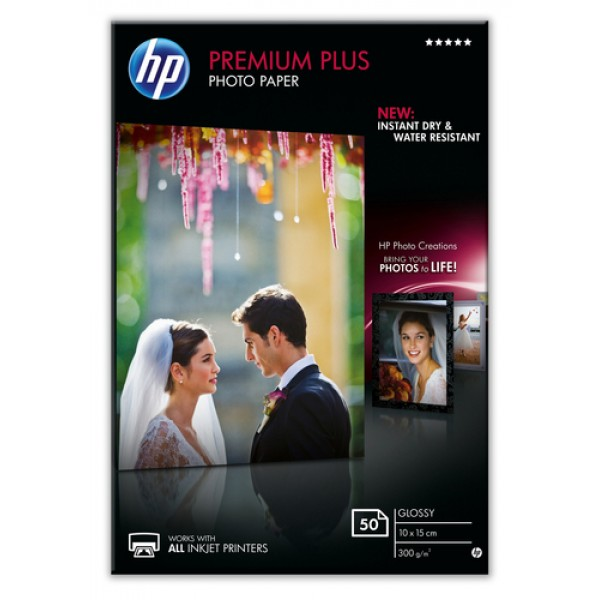 HP PREMIUM PLUS GLOSSY PHOTO PAPER 300 G/M-50 SHT/...