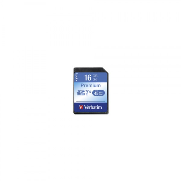 VERBATIM - 16GB SECURE DIGITAL SDHC - CLASS 10