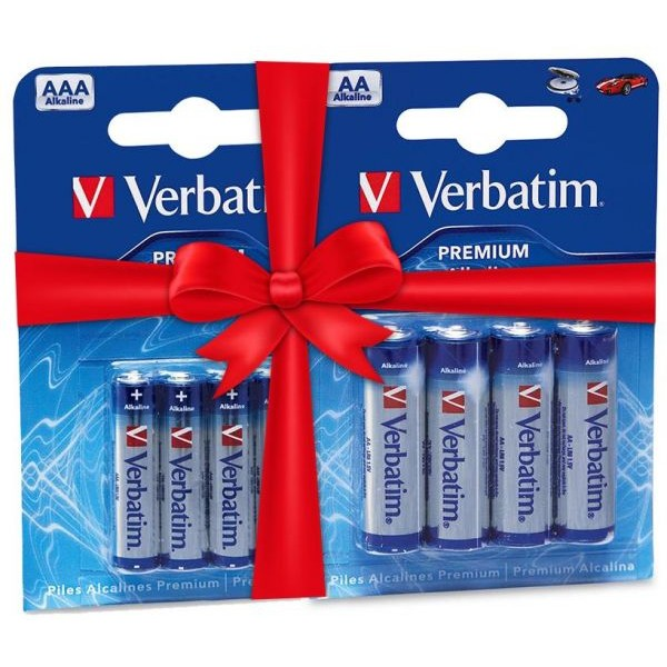 VERBATIM - AA ALKALINE BATTERY (8 BATTERIES PER PACK)