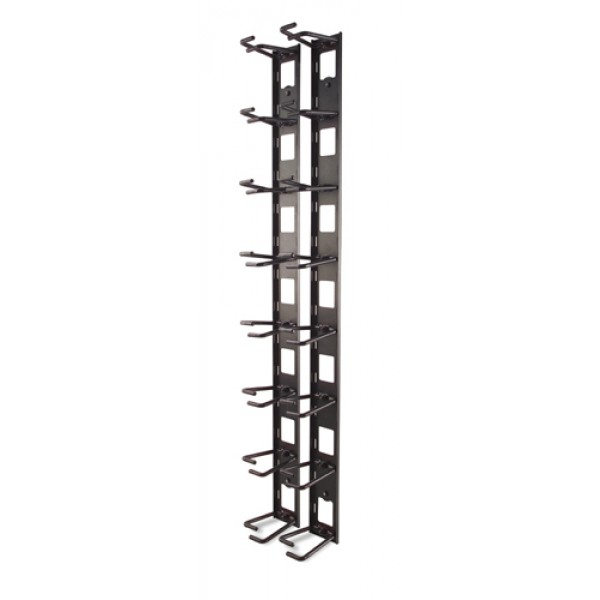 Vertical Cable Organizer 8 Cable Rings Zero U