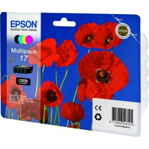 EPSON - INK - MULTIPACK 4 - BCMY - POPPY CLARIA HO...