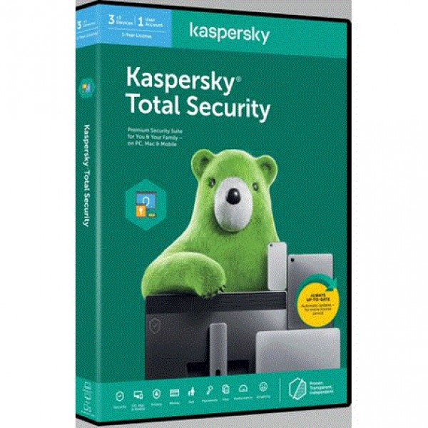 Kaspersky Total Security 2020 3+1 free device