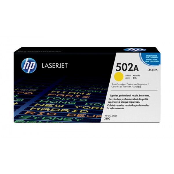 HP # 502A COLOR LASERJET 3600 YELLOW PRINT CARTRID...