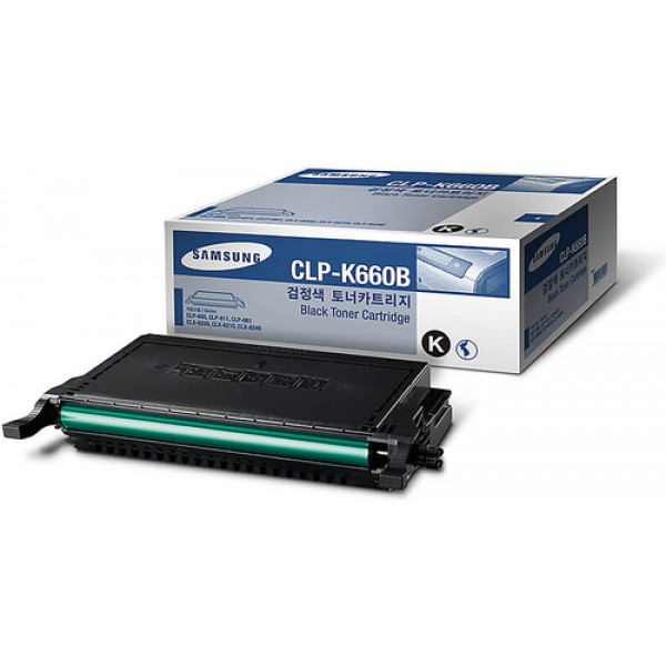 Samsung CLP-K660B High Yield Black Toner Cartridge