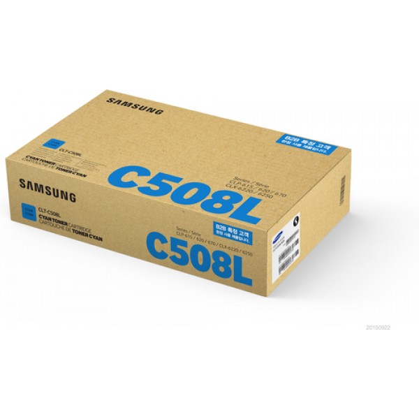 Samsung CLT-C508L High Yield Cyan Toner Cartridge